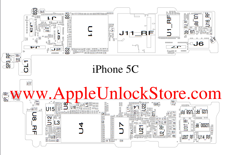 Appleunlockstore Case Iphone 5c Circuit Diagram Service Iphone 5c Circuit Diagram Service Manual Schematic Iphone 5c Diagram